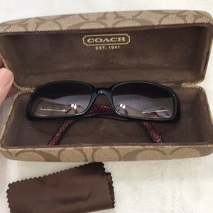 f95e1382e9 Coach Accessories - Coach Megan S247 Black Sunglasses